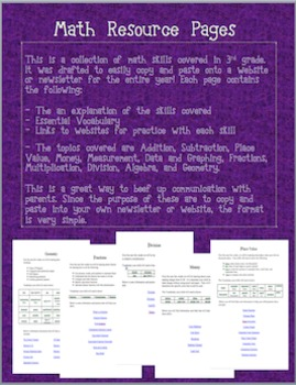 3rd Grade Math Resource Bundle