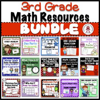 3rd. Grade Math Resources - BUNDLE
