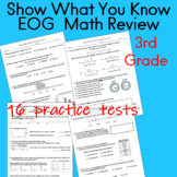 Show What You Know, 3rd Grade EOG Math Review Distance Learning