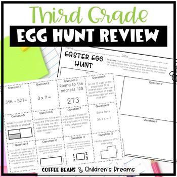 3rd Grade Math Review Easter Egg Hunt