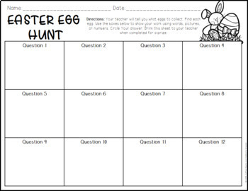 Math Review Easter Egg Hunt