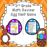 3rd Grade Math Review Easter Egg Hunt Game for Test Prep