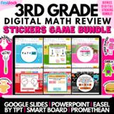 3rd Grade Math Review Game Bundle | Smartboard Google Slides PowerPoint Easel