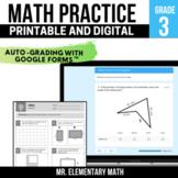 3rd Grade Math Review Pack | Google Classroom™ | Distance