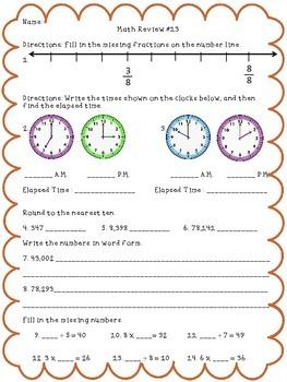 3rd Grade Math Review Part 3