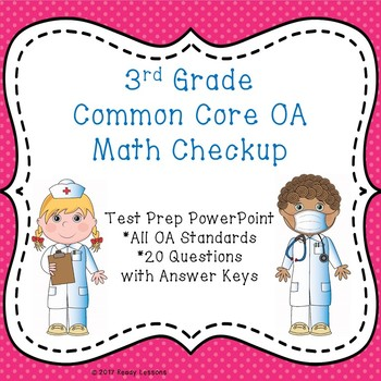 3rd Grade Math Review PowerPoint - Common Core 3rd Grade Test Prep - 3.OA