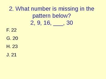 3rd Grade Math Review Powerpoint