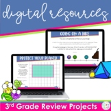 3rd Grade Math Review Projects for Google Classroom | Dist