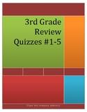 3rd Grade Math Review Quizzes #1-5