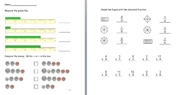 3rd Grade Math Review Sheets/ test prep- multipurpose