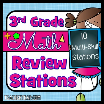 3rd Grade Math Review Stations