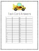 3rd Grade Math Review Task Cards CAR Themed