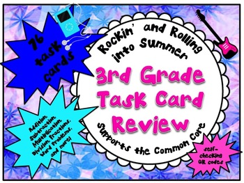 QR - 3rd Grade Math Review with self-checking QR codes