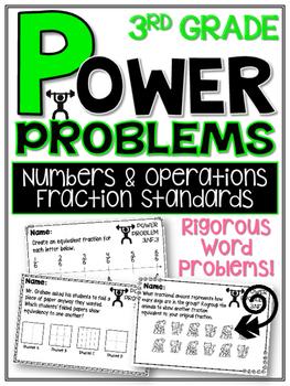 3rd Grade Math Rigorous Word Problems Fraction Standards 3NF1
