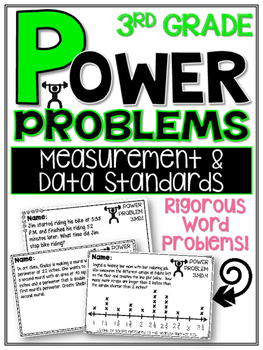 3rd Grade Math Rigorous Word Problems Measurement and Data Standards 3.MD