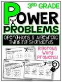 3rd Grade Math Word Problems Spiral Review Algebraic Think