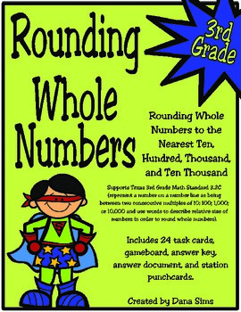 3rd Grade Math: Rounding Whole Numbers (Texas Math TEKS 3.2C)