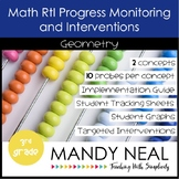 3rd Grade Math RtI Assessments & Intervention Binder for Geometry Bundle