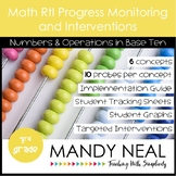 3rd Grade Math RtI Assessments & Intervention Binder for N