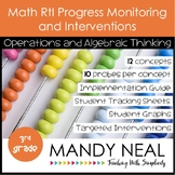3rd Grade Math RtI Assessments & Intervention Binder for OA Bundle