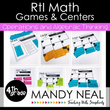 4th Grade Math RtI Intervention Games and Centers for OA