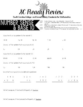 3rd Grade Math SC Ready Review -- College & Career Readiness Standards (CCRS)