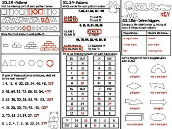 3rd Grade Math SOL Brochure #5