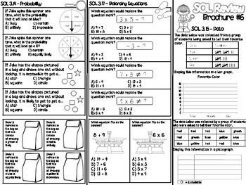 3rd Grade Math SOL Brochure #6