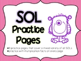 3rd Grade Math SOL Practice Pages