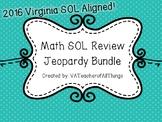 3rd Grade Math SOL Review Jeopardy 1 & 2 Bundle