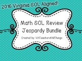 3rd Grade Math SOL Review Jeopardy 1 & 2 Bundle