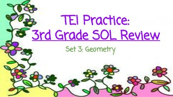 3rd Grade Math SOL TEI Task Cards: Geometry