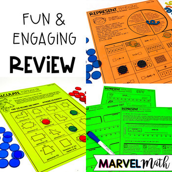 3rd Grade Math STAAR Prep: 14 No Prep Games by Marvel Math