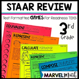 3rd Grade Math STAAR Review: 14 No Prep Games by Marvel Math