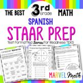 3rd Grade Math STAAR Prep: 14 SPANISH No Prep Games by Marvel Math