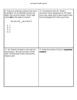 3rd Grade Math STAAR Prep #4