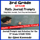 3rd Grade Math STAAR Journals, Prompts and Activities For All TEKS