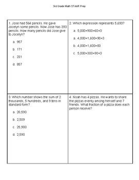 3rd Grade Math STAAR Review #5