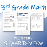 3rd Grade Math STAAR Review - Objective 5