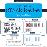 3rd Grade Math STAAR Review Task Card Scoot