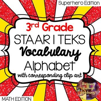 3rd Grade Math STAAR | TEKS Vocabulary Alphabet