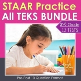 3rd Grade Math STAAR Test Prep BUNDLE with TEKS & Common Core Alignment