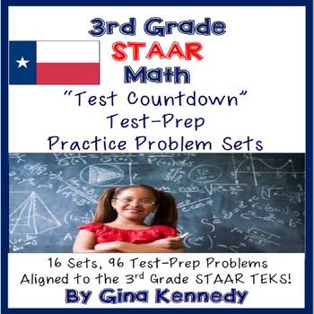 3rd Grade Math Staar Test Prep Problems 16 Sets 96 border=