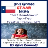 3rd Grade Math STAAR Test-Prep Problems, 16 Sets, 96 Problems