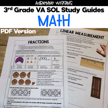 3rd Grade Math STUDY GUIDES (VA SOL)