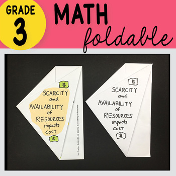 3rd Grade Math Scarcity & Availability of Resources Foldable by Math Doodles
