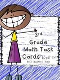 3rd Grade Math Review Task Cards (Part 1)