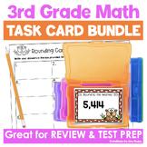 Math Task Card Bundle Third Grade