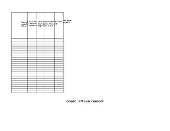 3rd Grade Math Skill Check Off