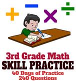 3rd Grade Math Skill Practice, Common Core Test Prep for FSA, AZ-Merit, STAR,etc